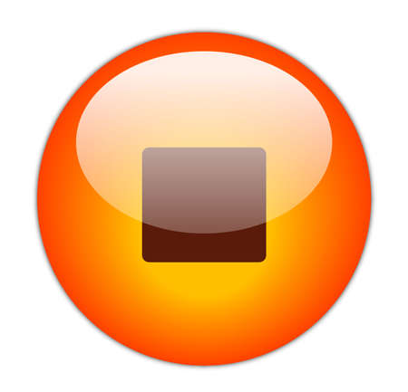 Glassy Red Stop Icon Button