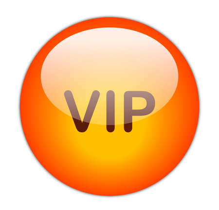 Glassy Red VIP Button Stock Photo - 15271235