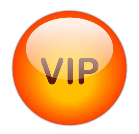 Glassy Red VIP Button Stock Photo - 15271235