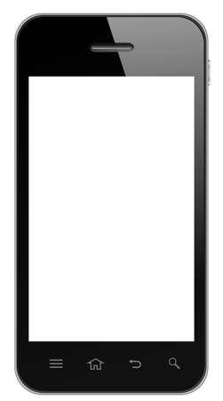 Smart Phone With Blank Screen Isolated photo