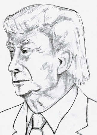 donald: Donald Trump Pencil Sketch