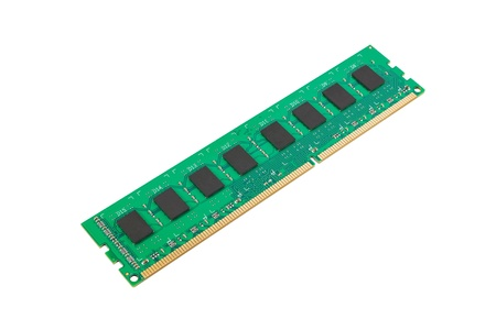ddr3: DDR3 memory module isolated on a white background Stock Photo