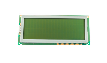 liquid crystal: Empty liquid crystal character display (LCD) isolated on a white background