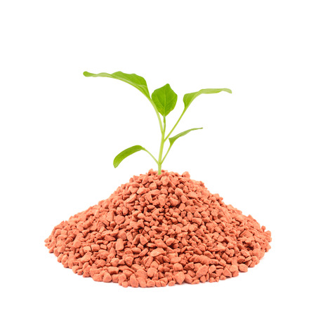 inorganic: Mineral fertilizers for plants isolated on the white background