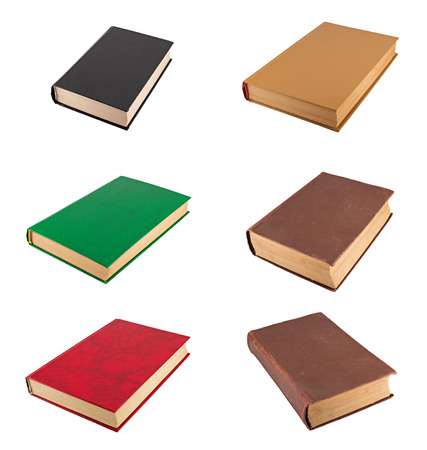 memoirs: Books isolated on a white background