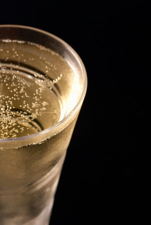 Closeup of chilled champagne glass with copy space Stock Photo - 7160244