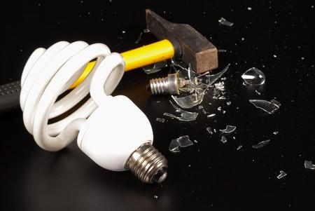 irradiate: Change to energy  saving bulbs