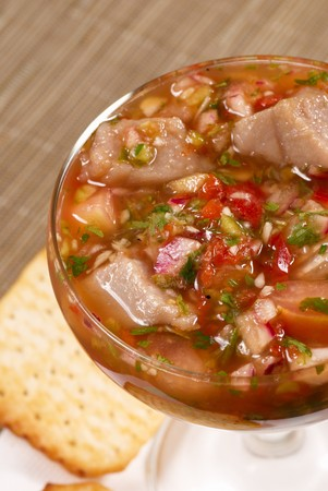 meagre: Ceviche Stock Photo