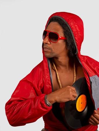expression corporelle: Un artiste de hip hop en expression corporelle creative