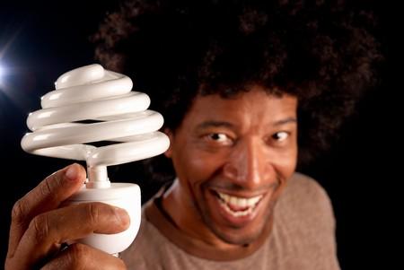 Changing to energy saving bulbs, a brilliant idea photo