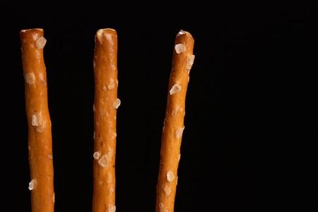pretzel stick: Detail of some salted sticks, crunchy snack