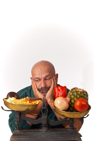 Guy is pretty fed up with his diet Imagens