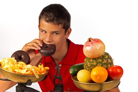 Feeling pretty guilty about not sticking to healthy food Stock Photo - 7841060