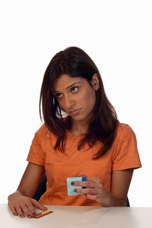 Thinking about what contraceptive method to choose Stock Photo - 8170592