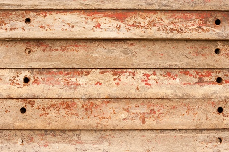 concrete form: Concrete form boards piled up, a building material background Stock Photo