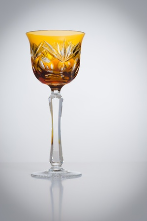 roemer: A Roemer, traditional German hand carved crystal wine glass
