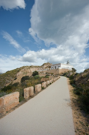 albir: Road leading up towards a scenic lighthouse