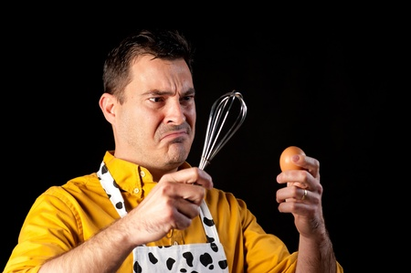 How to whisk an egg, a major challenge photo