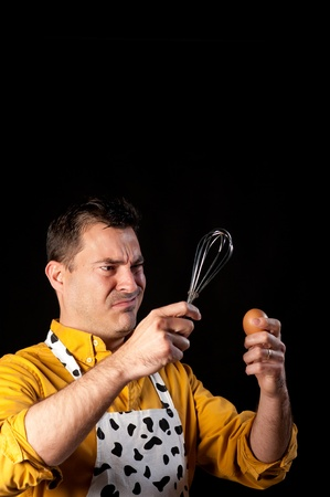 How to whisk an egg, a major challenge Stock Photo - 8937348