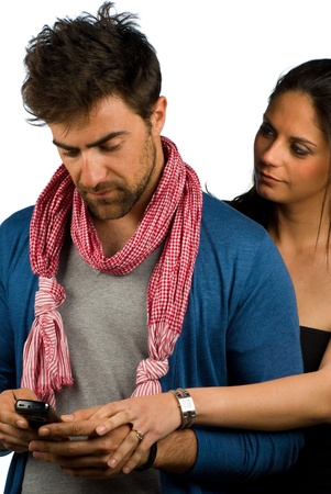Couple sharing difficult moments together, trust and support Stock Photo - 9219699