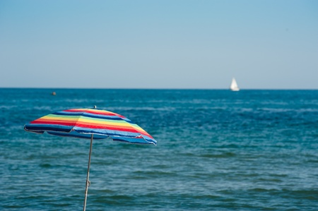 chill out: Beach, sunshine, shade, peace, a summertime scene