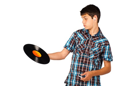 clueless: Teenager completely clueless about a vinyl record