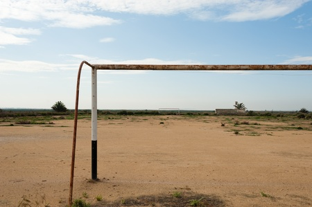 Derelict African football pitch, the hope of a generation photo