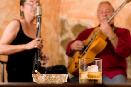 Whisky, smoke and a cool jazz duet photo