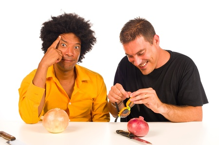 Smart guys finding a solution to a century old problem Stock Photo - 10259826