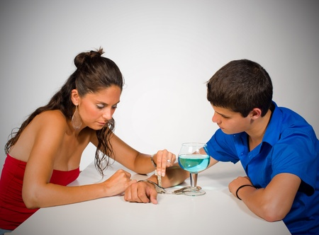 Addicted teenager getting help from someone, a concept Stock Photo - 10603264