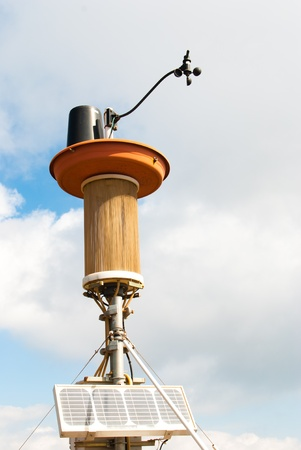 anemometer: Solar powered weather station including anemometer and an air filter