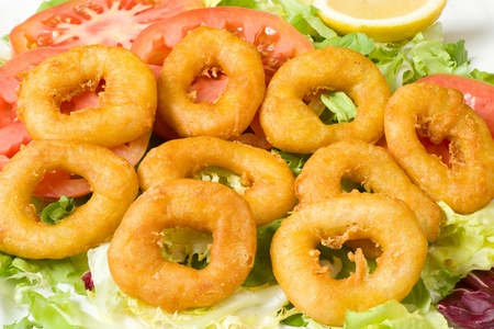 calamares: Deep fried battered squid rings, a Mediterranean appetizer