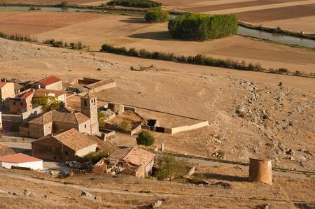 The small medieval village of Gormaz, Spain photo