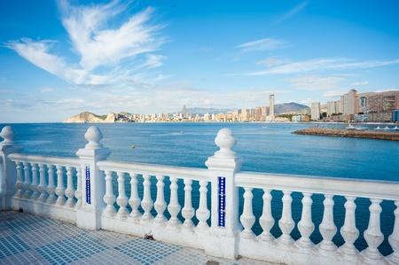 View on the tourist resort of Benidorm, Costa Blanca, Spain