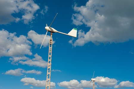 Small wind generator as used to privately power a single home Stock Photo - 11316170