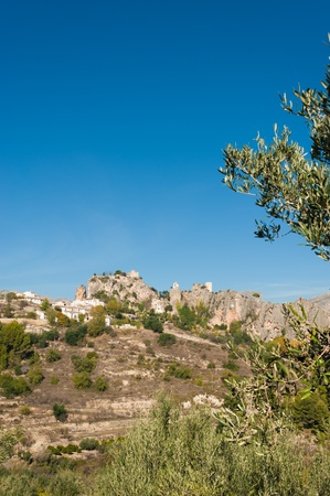 costa blanca: The heritage mountain town of Guadalest, Costa Blanca, Spain Stock Photo
