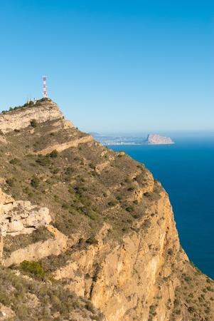 albir: Sierra Helada  summit with outlook over Calpe, Costa Blanca, Spain