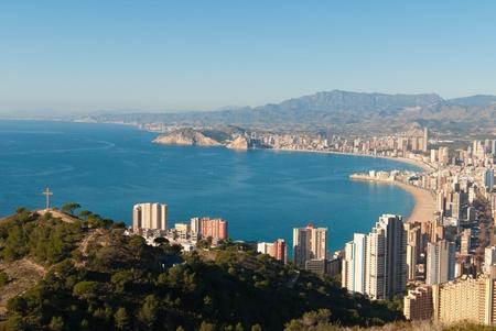 High angle view of the tourist hub Benidorm, Costa Blanca, Spain Stockfoto