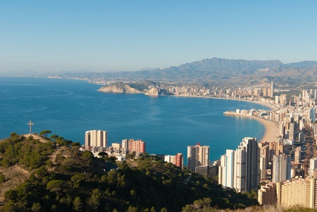 High angle view of the tourist hub Benidorm, Costa Blanca, Spain Stock Photo