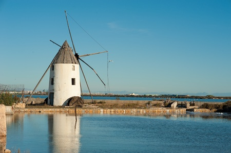 Traditional salt marsh in San Pedro, Costa Calida, Murcia