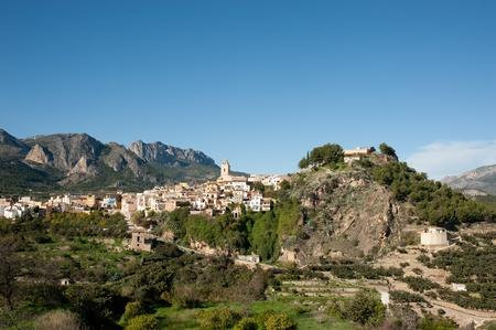 The scenic hilltop village of Polop, Alicante, Spain