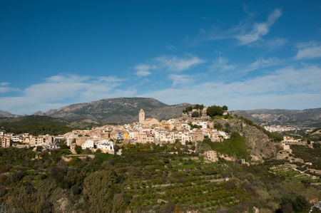 costa blanca: The scenic mountain village of  Polop, Costa Blanca, Spain