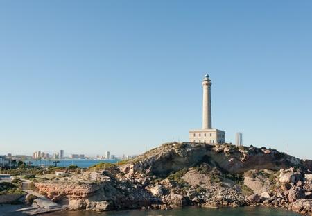 cabo: La Mang del Mar Menor, Murcia, Spain, as seen from Cabo de palos lighthouse Stock Photo