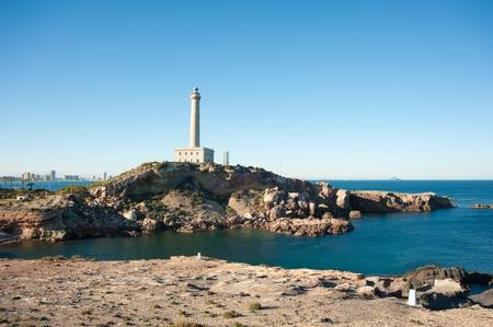 Cabo de Palos lighthouse on La Manga, Murcia, Spain