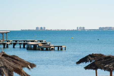 La Manga del Mar Menor as seen from San Javier, Murcia, Spain