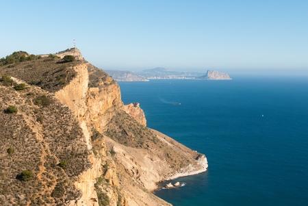costa blanca: The steep cliffs of _Sierra Helada, Costa Blanca, Spain Stock Photo