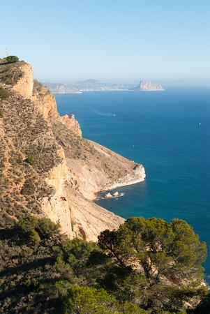 albir: View from the top of Sierra Helada, Costa Blanca, Spain Stock Photo