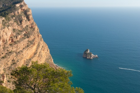albir: Scenic view from Sierra Helada, Costa Blanca, Spain