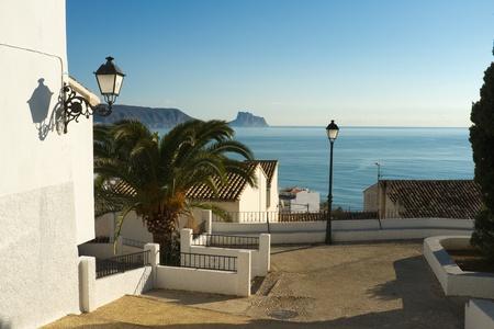 altea: Calm street on a sunny morning, Altea, Costa Blanca