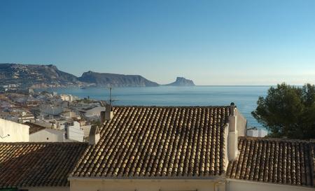 altea: Altea rooftops on a sunny morning, Costa Blanca, Spain